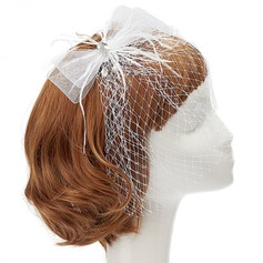Fashion Net Yarn/Feather Fascinators