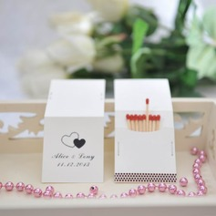 Personalized Double Hearts Hard Card Paper Matchboxes