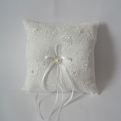 White Square Ring Pillow With Ribbon(103018239)