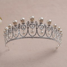 Elegant Rhinestone/Alloy/Imitation Pearls Tiaras