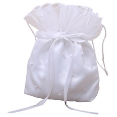 Lovely Satin With Bowknot/Imitation Pearl Bridal Purse