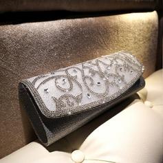 Gorgeous PU/Rhinestone Wristlets/Satchel