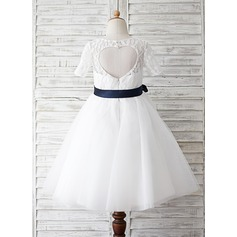 Princess Tulle/Lace Girl Dress With Lace/Sash (010089509)