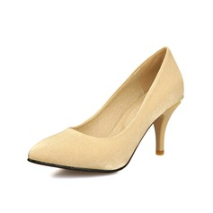 Women's Satin Stiletto Heel Pumps Closed Toe shoes (085070363)