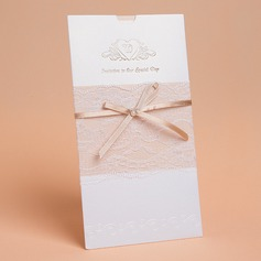 Modern Style Wrap & Pocket Invitation Cards With Bows