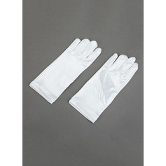 Elastic Satin Wrist Length Flower Girl Gloves (014062354)