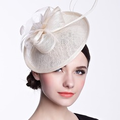 Ladies' Beautiful Spring/Summer/Autumn Cambric With Feather Fascinators