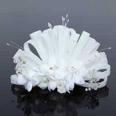 Unique Artificial Silk/Net Flowers & Feathers