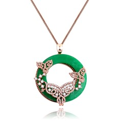 Gorgeous Copper/Zircon Women's/Ladies' Necklaces