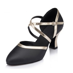 Women's Real Leather Heels Sandals Modern Dance Shoes