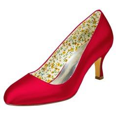 Women's Satin Stiletto Heel Pumps