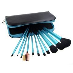 11 Pcs Synthetic Hair Makeup Brush Set Brush With Evening Bag