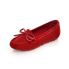 Naisten Mokkanahka Matalakorkoiset Heel Matalakorkoiset Suljettu toe jossa Bowknot kengät
