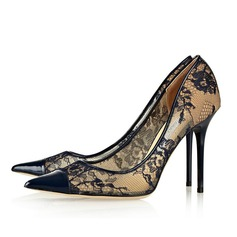 Patent Leather Stiletto Heel Pumps Closed Toe shoes (085063700)