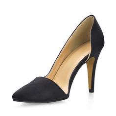 Seide wie Satin Stöckel Absatz Absatzschuhe Geschlossene Zehe Schuhe
