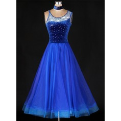 Women's Dancewear Organza Latin Dance Dresses (115091485)
