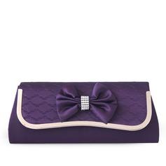Fashional Silk With Bowknot/Rhinestone Clutches