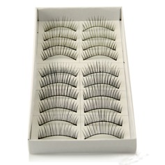 Manual Looking Curved Lashes 118# - 10 Pairs Per Box