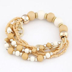 Colourful Alloy With Imitation Pearl Ladies' Fashion Bracelets