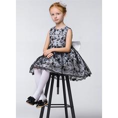 A-Line/Princess Short/Mini Flower Girl Dress - Lace Sleeveless Jewel