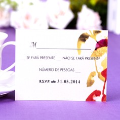 Personalized Leaf Design Pearl Paper Response Cards