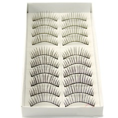 Manual Looking Curved Lashes 128# - 10 Pairs Per Box