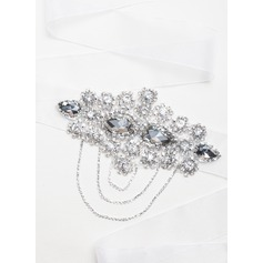 Stylish Ribbon Sash With Crystal/Rhinestones