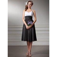 Empire Sweetheart Knee-Length Taffeta Bridesmaid Dress With Ruffle