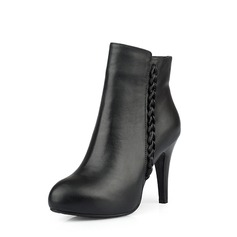 Real Leather Stiletto Heel Ankle Boots shoes