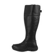 Women's Real Leather Flat Heel Closed Toe Boots Knee High Boots shoes