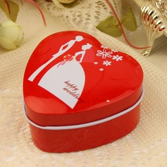 """Happy Wedding"" Heart-shaped Favor Tin"
