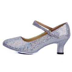 Women's Leatherette Sparkling Glitter Heels Pumps Modern Dance Shoes