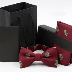 Modern Polyester Bow Tie Pocket Square