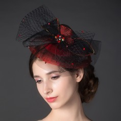 Stylish Rhinestone/Net Yarn Fascinators