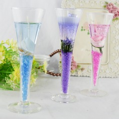 Colorful Calla High Cup Glass/Jelly Wax Candle