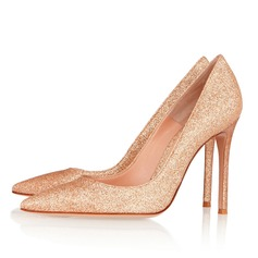 Women's Sparkling Glitter Stiletto Heel Pumps Closed Toe shoes (085074104)