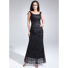 Etui-Linie U-Ausschnitt Knöchellang Lace Kleid für die Brautmutter