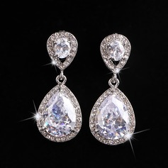 Simple Alloy Rhinestones With Rhinestone Ladies' Fashion Earrings
