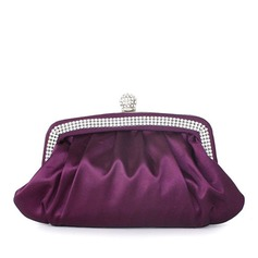 Gorgeous Silk With Ruffles/Rhinestone Clutches