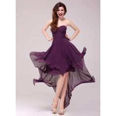 A-Line/Princess Sweetheart Asymmetrical Chiffon Evening Dress