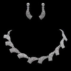 Maravilloso Aleación/Diamantes de imitación De mujer Sistemas de la joyería