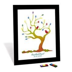 Personalized design Fingerprint Signature Framed Canvas