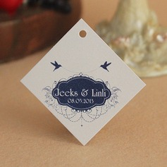 Personalized Lovely Birds Hard Card Paper Tags