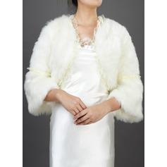 Half-Sleeve Faux Fur Wedding Wrap