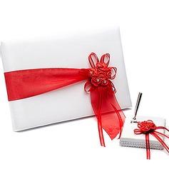 Beautiful Ribbons/Sash Guestbook & Pen Set