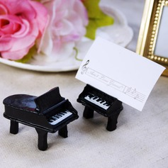 Piano Design Resin Place Card Holders (Set of 2)