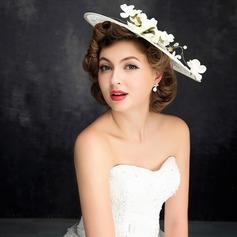Ladies' Classic Imitation Pearls/Linen With Flower Fascinators