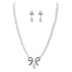 Nice Alloy/Pearl With Rhinestone Ladies' Jewelry Sets
