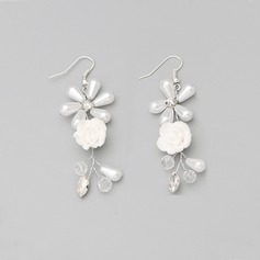 Beautiful Alloy/Rhinestones/Ceramic With Imitation Pearls Ladies' Earrings