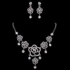 Fleurs romantiques Alliage/Strass Dames Parures
